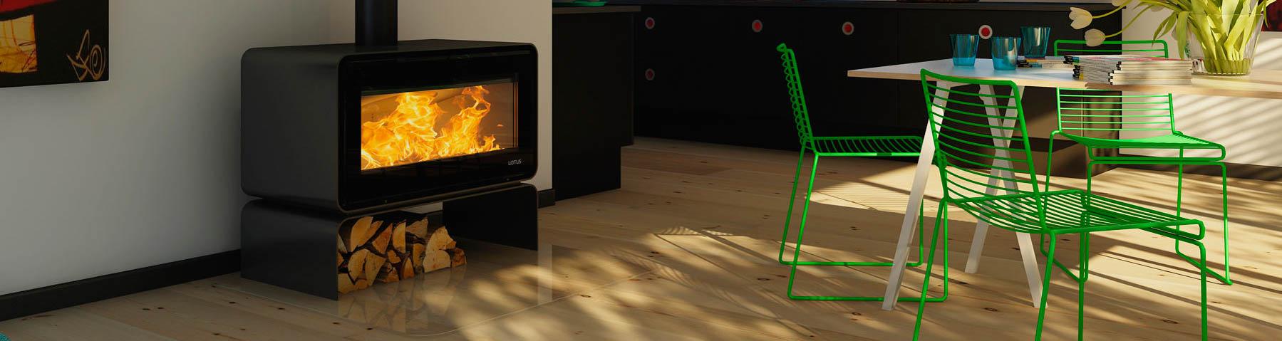 Brændeovnsglas
