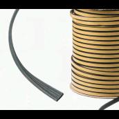 Bånd 4x10, M (125m/rl) - Sort