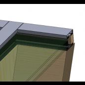 Tagprofil system (6m/lgd.), Hvid