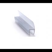 Gummiliste u/dør, lige, f/6mm, Transp