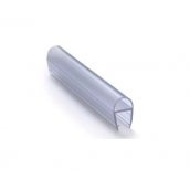 Gummiliste u/dør, buet, f/8mm, Transp
