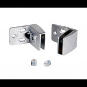 Square hængsler f/4-5mm glas, Mat