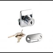 Square lås enkelt, f/4-5mm glas, Krom
