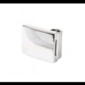 Square centerlås/glas-glas,4-5mm, Krom